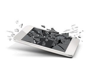 shattered smart phone screen